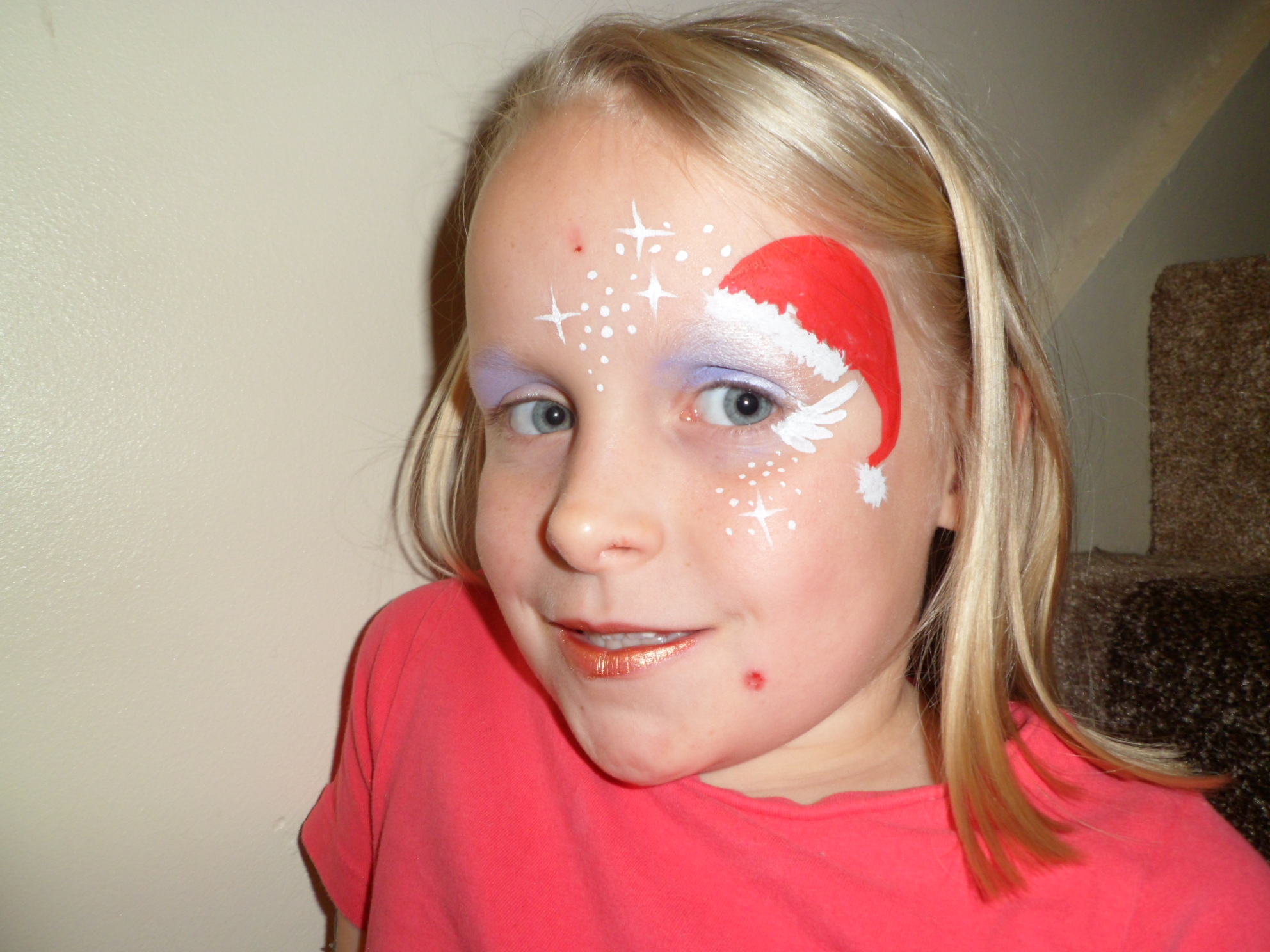 Christmas Face Paint.Christmas Santa Hat Beccy Waite Face Painter Blog